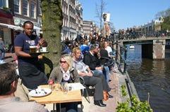 Caffè di Amsterdam Fotografia Stock Libera da Diritti
