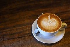 Caffè di arte del Latte Fotografia Stock