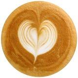 Caffè di arte del Latte isolato nel fondo bianco Fotografia Stock Libera da Diritti
