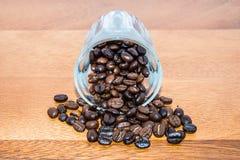 Caffè di Brown in tazza Immagine Stock