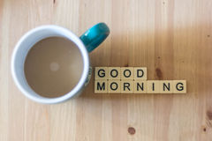 Caffè di buongiorno Fotografie Stock Libere da Diritti