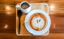 Caffè di Cappucino Immagini Stock