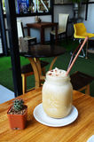 Caffè di ghiaccio in caffè Fotografie Stock Libere da Diritti