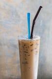 Caffè di ghiaccio in vetro Immagine Stock