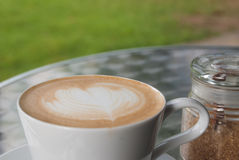 Caffè di Latte Fotografia Stock Libera da Diritti