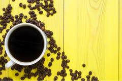 Caffè di mattina nella tazza Fotografia Stock Libera da Diritti