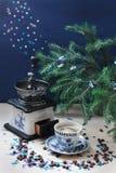 Caffè di Natale Fotografie Stock Libere da Diritti