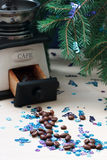 Caffè di Natale fotografie stock