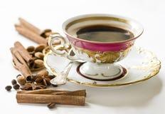 Caffè di natale nella tazza della porcellana Fotografia Stock