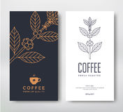 Caffè di progettazione di imballaggio Immagine Stock