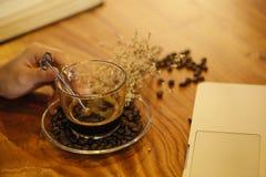 Caffè di refrigerazione di tempo Immagini Stock