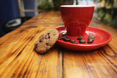 Caffè di refrigerazione di tempo Fotografia Stock