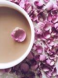 Caffè di Rosa Fotografie Stock Libere da Diritti