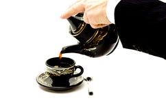 Caffè di servire Immagini Stock