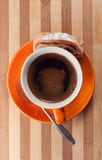 Caffè di spirito dello strudel Fotografie Stock