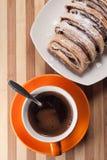 Caffè di spirito dello strudel Immagine Stock