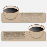 Caffè di stile di Infographics Immagini Stock