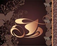 Caffè di vettore, priorità bassa del tè royalty illustrazione gratis