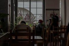 Caffè durante l'ora di pranzo fotografia stock