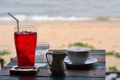 Caffè e bibita analcolica fotografia stock