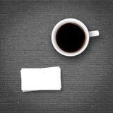 Caffè e biglietti da visita Fotografia Stock