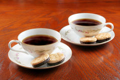 Caffè e biscotti Fotografia Stock