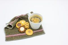 Caffè e biscotti Fotografie Stock Libere da Diritti