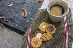 Caffè e biscotti Immagine Stock