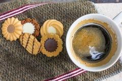 Caffè e biscotti Immagini Stock