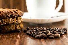 Caffè e biscotti casalinghi Fotografia Stock Libera da Diritti
