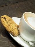 Caffè e biscotto Immagini Stock Libere da Diritti
