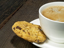 Caffè e biscotto Fotografia Stock Libera da Diritti