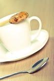 Caffè e biscotto Immagine Stock Libera da Diritti