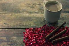 Caffè e biscotto Fotografia Stock