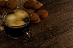 Caffè e biscotto Fotografie Stock