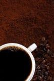 Caffè e chicchi di caffè Immagine Stock