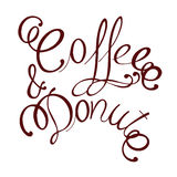 Caffè e ciambella Fotografie Stock Libere da Diritti