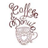 Caffè e ciambella Immagine Stock