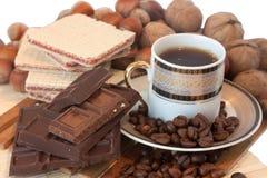 Caffè e cioccolato Fotografia Stock