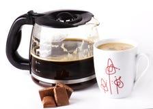 Caffè e cioccolato Fotografie Stock