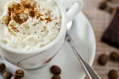 Caffè e crema Fotografia Stock Libera da Diritti
