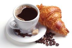 Caffè e croissant fotografia stock libera da diritti