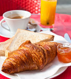 Caffè e croissants Immagine Stock