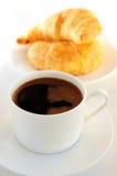 Caffè e croissants fotografia stock libera da diritti
