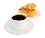Caffè e croissants immagini stock