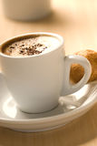 Caffè e dessert Fotografia Stock