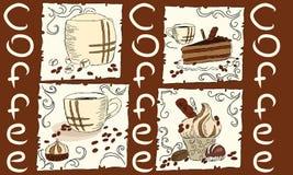 Caffè e dessert Immagine Stock