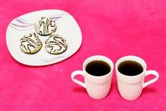 Caffè e dolce Fotografie Stock Libere da Diritti