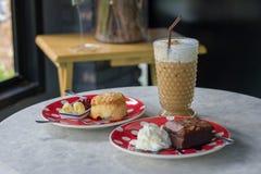 Caffè e dolce Fotografia Stock