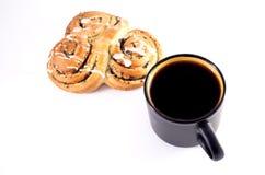Caffè e dolce Immagini Stock